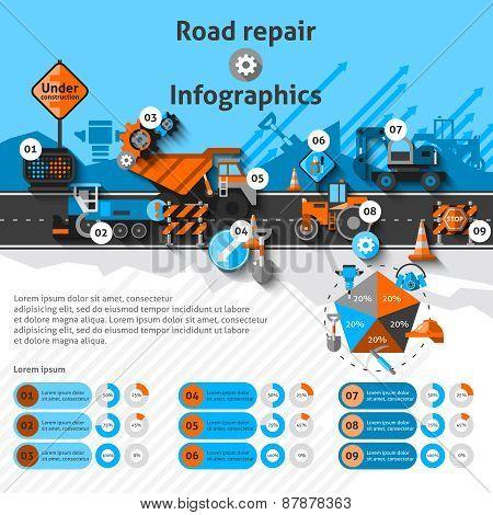 Road Repair Infographics