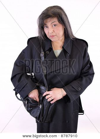 Female in Overcoat