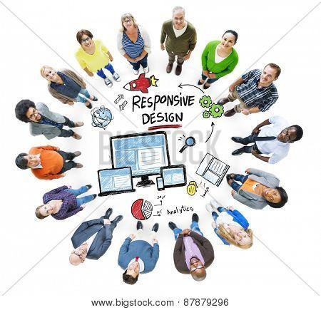 Responsive Design Internet Web Online People Diversity Concept