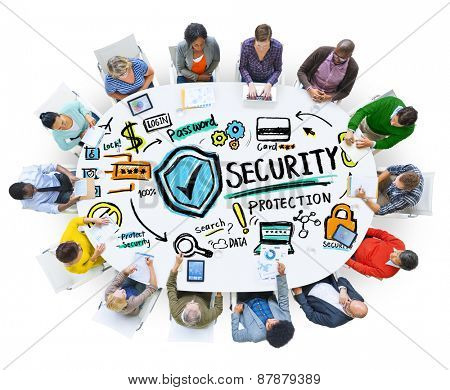 Ethnicity People Digital Devices Security Protection Communication Concept