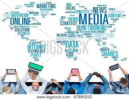 Media Social Media Network Technology Online Concept