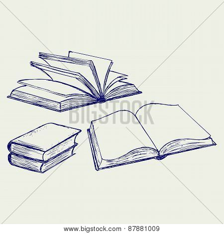 Vector illustration of book