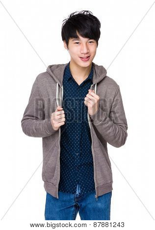 Young smiling asian man