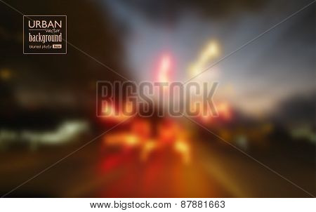 Abstract Urban Night Scene Background