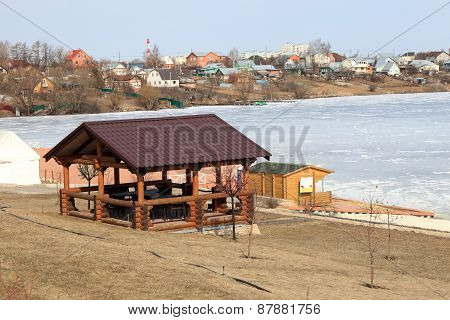Gazebo On The River Bank