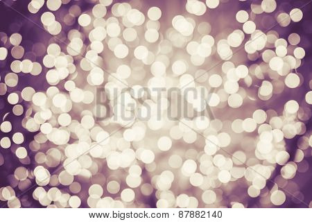 Colorful Background With Natural Bokeh Defocused Sparkling Lights. Vintage Texture