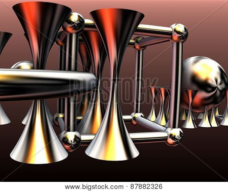 Abstract Background With Detailed 3D Render