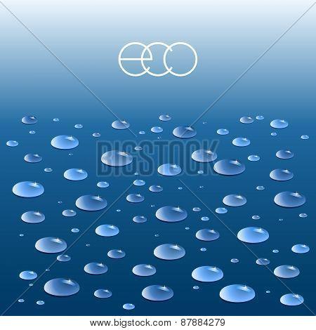 Vector Ecologic Background.