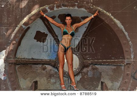 Beautiful fitness model.