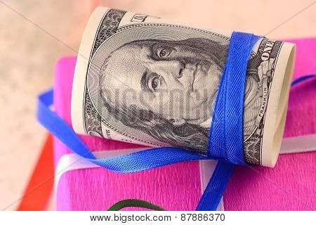 American Money And Gift Box
