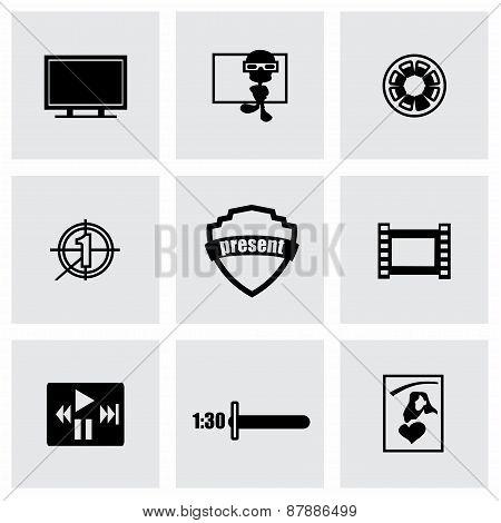 Vector Movie icon set