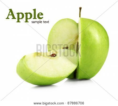 Juicy apple isolated on white