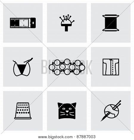 Vector Needlywork icon set