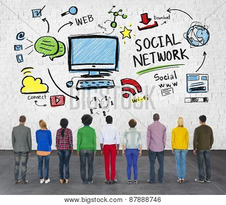 Social Network Social Media Diversity Group People Concept