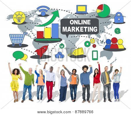 Online Marketing Strategy Commercial Advertisement Plan Concept