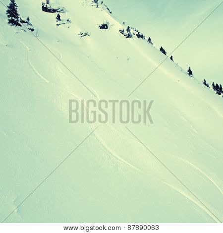 The High Alps Mountains Landscape With Snow Slope  (austria).