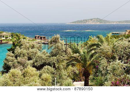 The Beach At Turkish Resort, Bodrum, Turkey