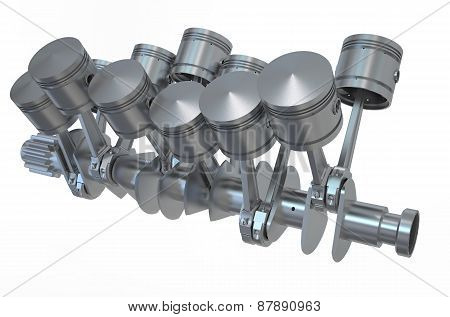 V12 Engine Pistons