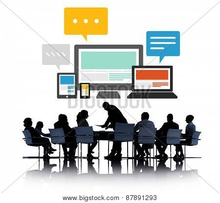 Responsive Design Internet Communication Technology Concept