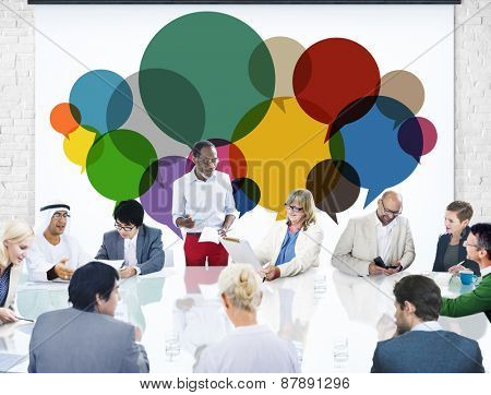 Business People Message Talking Communication Concept
