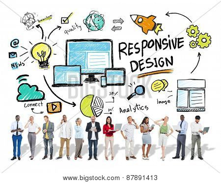 Responsive Design Internet Web Business People Technology Concept