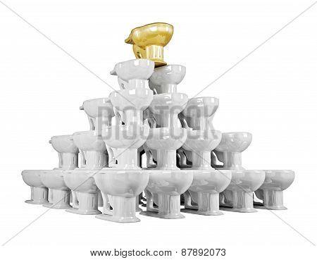 Toilet Bowls Pyramid