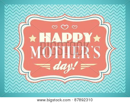 Happy Mothers day. Typography letters font type