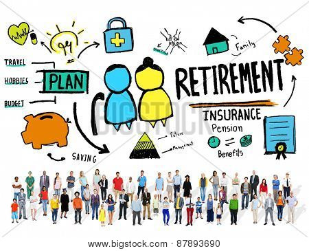 Diversity Casual People Retirement Vision Aspiration Career Concept