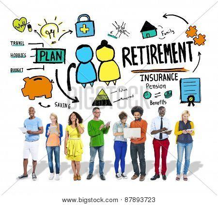 Diversity Casual People Retirement Career Digital Communication Concept
