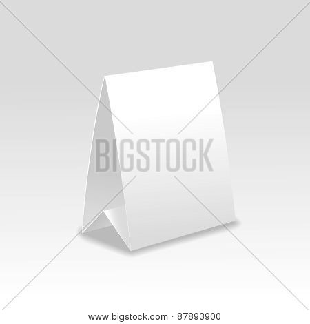 Blank paper table cards .