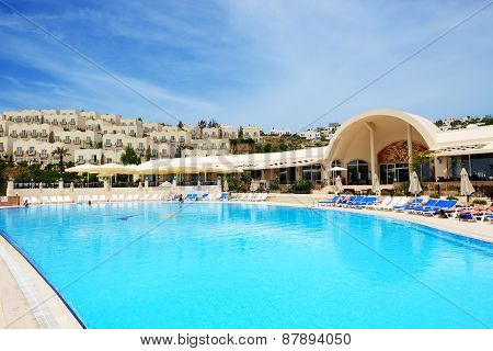 Bodrum, Turkey - May 21: The Tourists Enjoing Their Vacation In Luxury Hotel On May 21, 2013 In Bodr