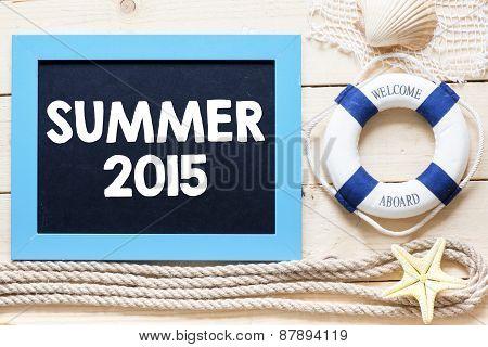 Summer 2015 written on blackboard