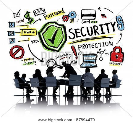 Ethnicity Business People Conference Discussion Security Protection Concept