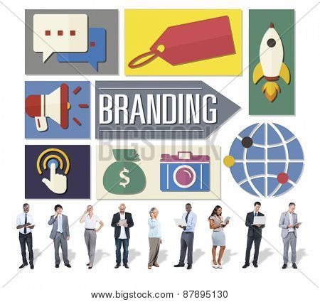 Branding Advertising Business Global Marketing Concept
