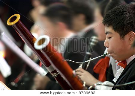 a portrait of bassoon boy