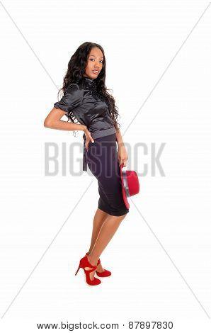 Pretty Tall Black Woman.