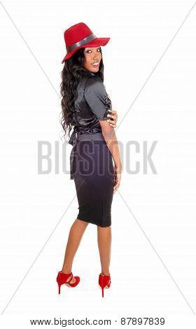 Black Tall Woman In Profile.