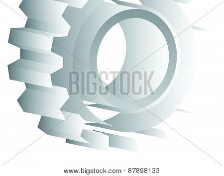 Various Gear Wheel, Rack Wheel Vector Graphics. Mechanics, Manufacturing, Industrial Or Maintenance,