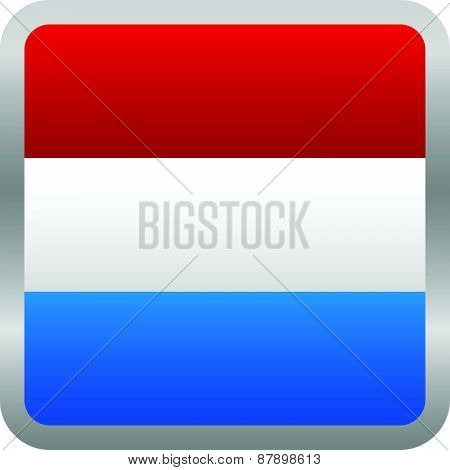 Flag Of Netherlands Square Vector Icon - Dutch Flag