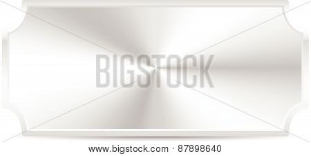 Metal Plaque, Plate Isolated On White With Conical Gradient Fill