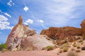 stock photo of valley fire  - Red rocks in Valley of fire State park in Nevada - JPG
