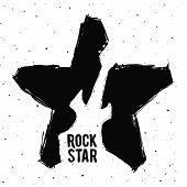 pic of hard-on  - hard rock graphic design  - JPG