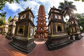 picture of reign  - This is Tran Quoc Pagoda in Hanoi is the oldest pagoda in the city - JPG