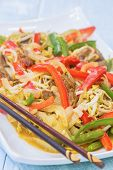 picture of mung beans  - Beef stir - JPG