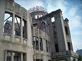 stock photo of bomb  - The last building left from prior to the 1945 Hiroshima - JPG