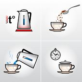 picture of hot-chocolate  - Graphic drawing steps of making hot drinks - JPG