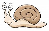 Постер, плакат: Cartoon Snail With Snail Shell
