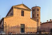 foto of rebuilt  - church of Santa Maria Maggiore is baroque church in Ravenna Italy was build in 532 and rebuilt in 1671 - JPG