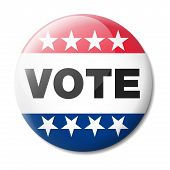 image of voting  - Vector illustration of a badge about the Vote in the USA - JPG