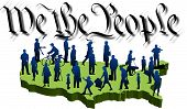 pic of preamble  - graphic depicting a usa map with silhouette people over the words - JPG